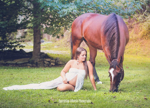 Equine Maternity Photo Session with Megan and her horse Glory