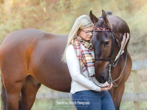 Abby's Senior Photography with her stunning Saddlebred Ritchie