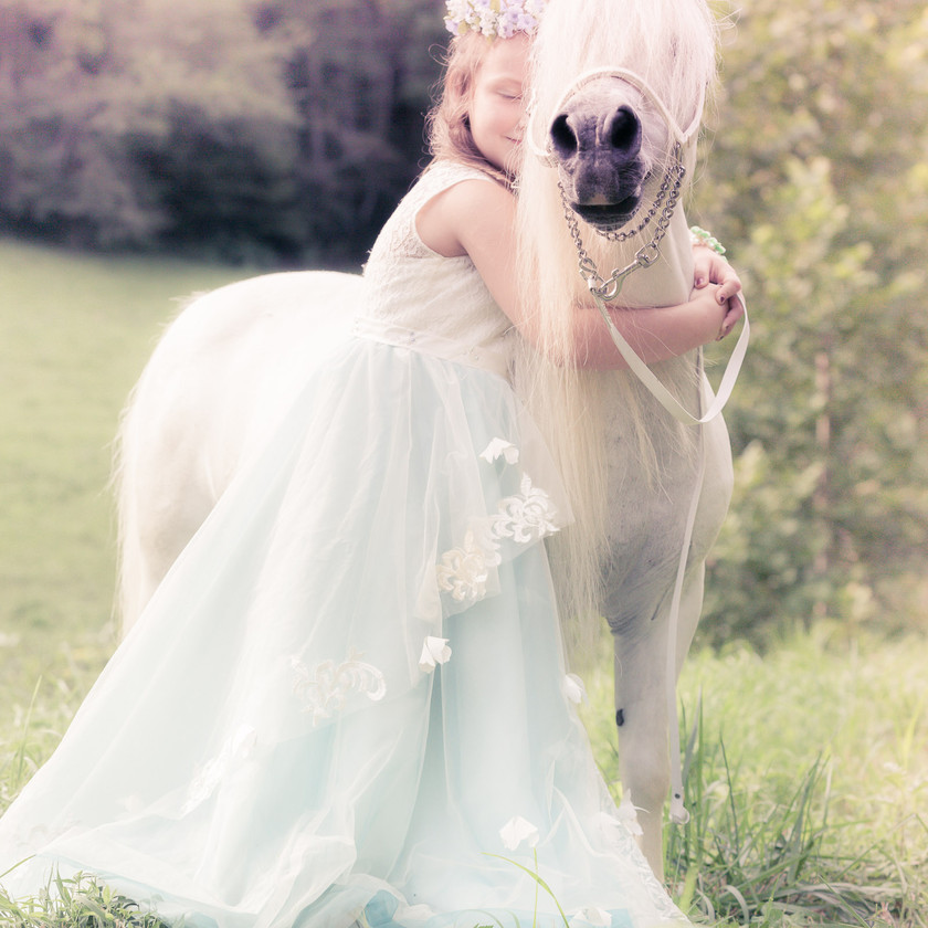 fairytale princess photo session with her pony