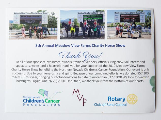 CharityHorseShowMarketingPostcard