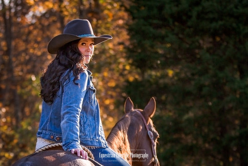 Equine Portrait of a Cowgirl