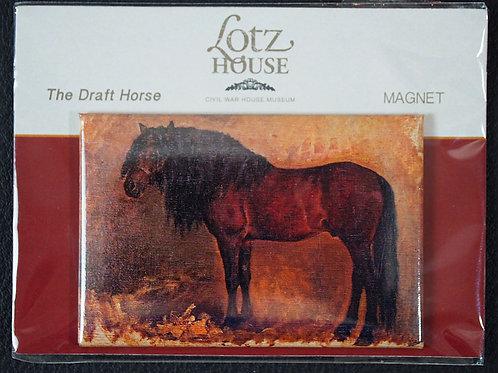 Matilda Lotz Original Painting Magnet -The Draft Horse