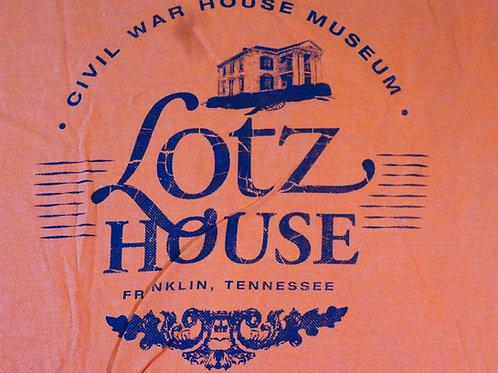 Lotz House 100% cotton ORANGE T shirt.