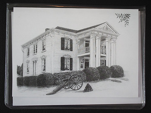 Lotz House Black and White Stencil Card and Envelope