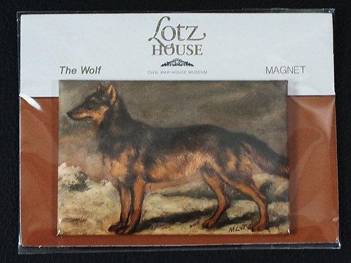 Matilda Lotz Original Painting Magnet - The Wolf