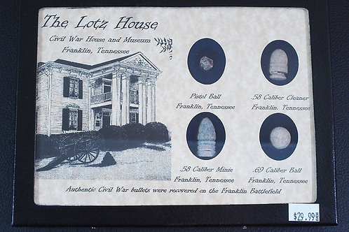 Franklin Battlefield Artifacts Plaque (Medium)