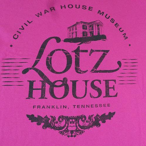 Lotz House 100% cotton DARK PINK T shirt.