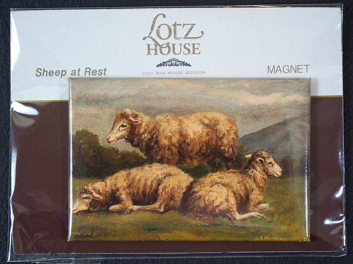 Matilda Lotz Original Painting Magnet - Sheep at Rest
