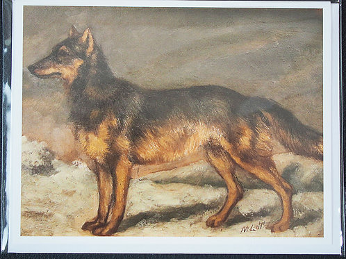Note Card: Matilda Lotz Original Painting - The Wolf