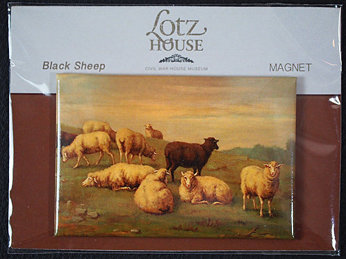 Matilda Lotz Original Painting Magnet - Black Sheep