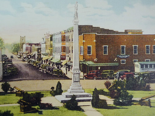 Downtown Franklin Historical Card