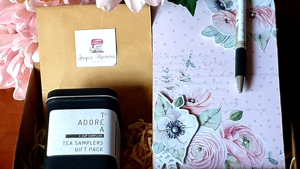 """A Mothers Canvas Hamper """"Blooming Pink"""""""