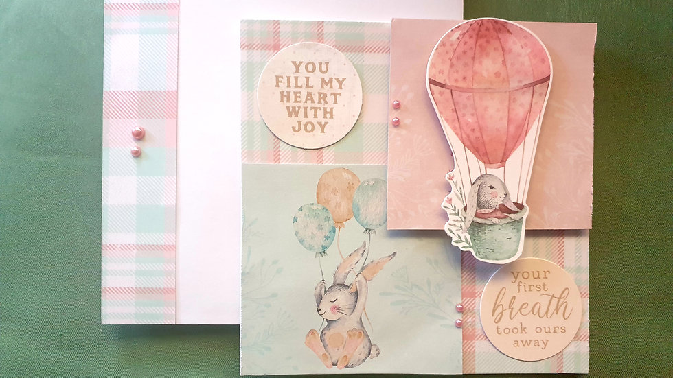"""Matching Card and Envelope """"Balloons and Balloons"""""""