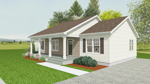 VBS Model 2 - Ranch w/ Saddle Roof
