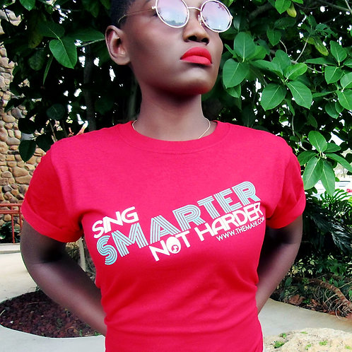 Sing Smarter Not Harder - Red Tee