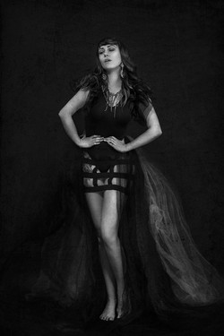 atlanta studio photo session elegant beautiful woman black and white