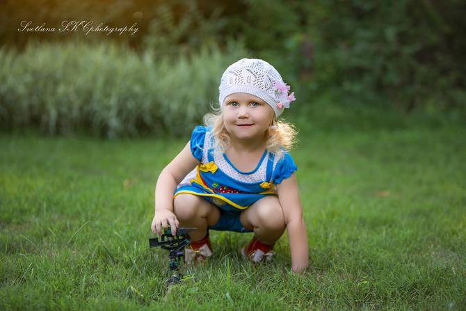 Beautiful dreamy child