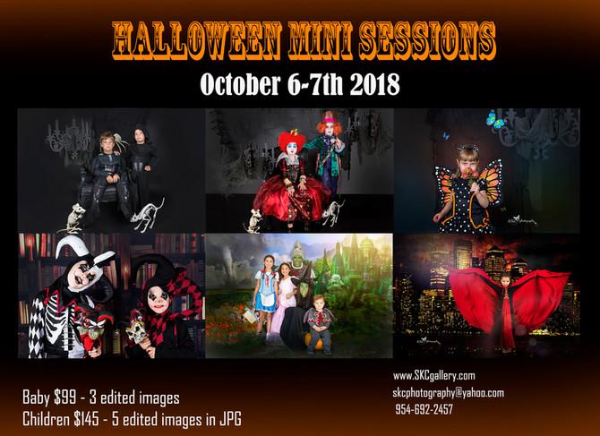 Halloween or Costume mini sessions in Atlanta