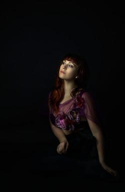 atlanta studio photo session elegant beautiful woman in birgundy dress