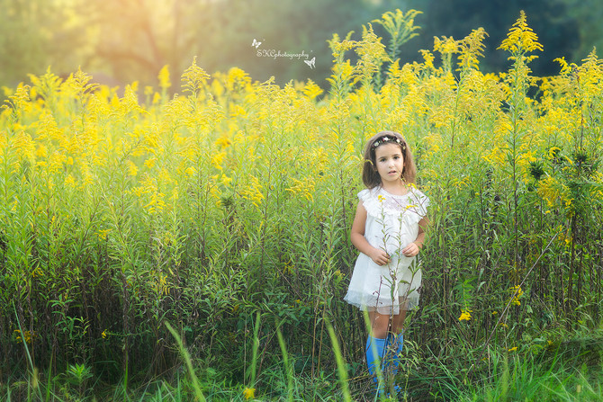 Portrait Photography - Wild flower field