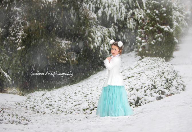 Child Photography - Snowmaiden
