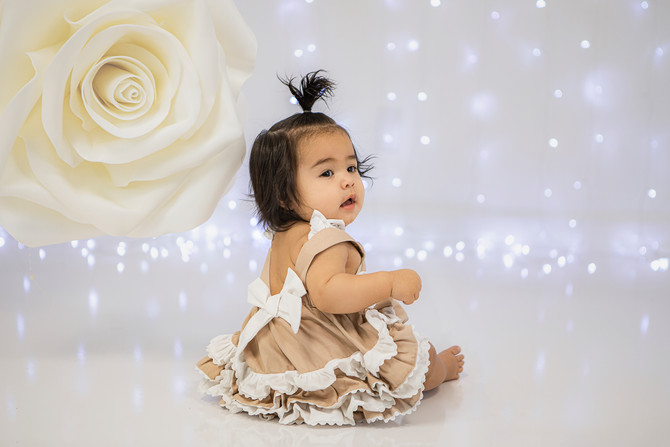 Baby Ximena's first modeling gig