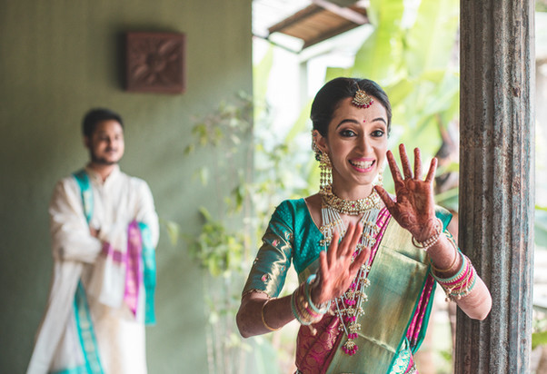 Candid wedding photography of a couple