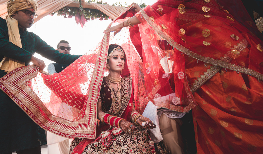 Indian Bride In Traditional Indian Look