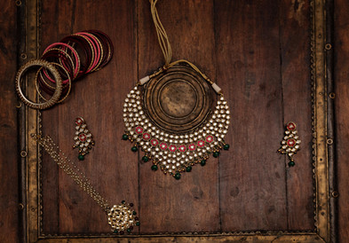 A Traditional Indian Wedding Necklace.