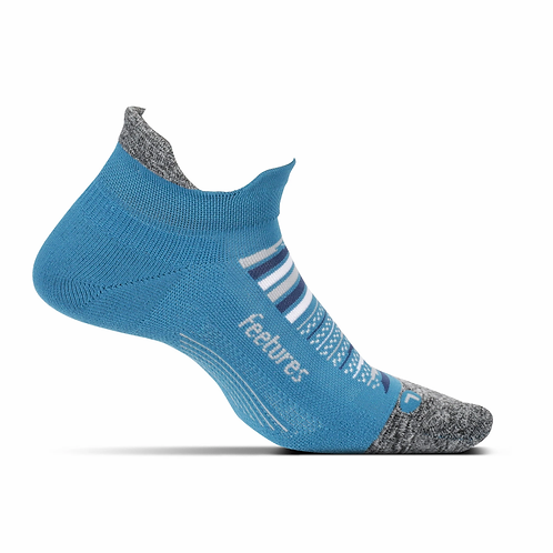 Feetures No Show Tab Maui Blue Ultra Light Cushion