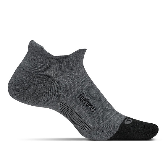 Feetures No Show Tab Color Grey Ultra Light Cushion