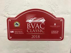 BVAC Classic Car Rally Plaque