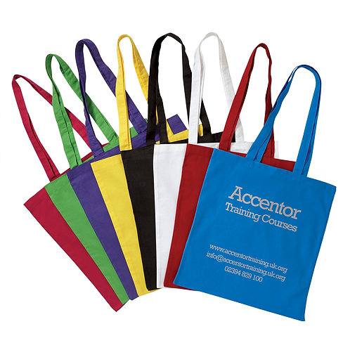 Coloured Cotton Shopper - Prices Inc VAT