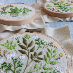 3 Embroidery Kit_Green Leaves_3