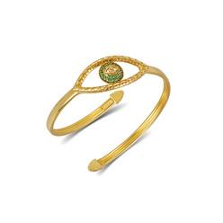 Tychon Evil Eye Cuff Bracelet