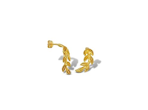 Daphne Leaves Studded Earrings