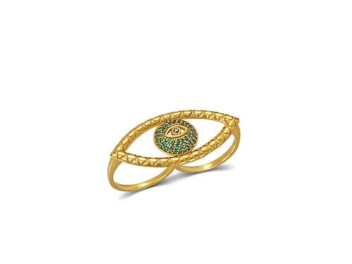 Tychon Evil Eye Ring