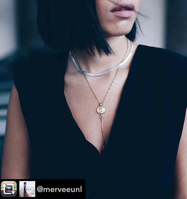 Merve kicked off #mbfwistanbul with our _Athena Spear Necklace__.jpg