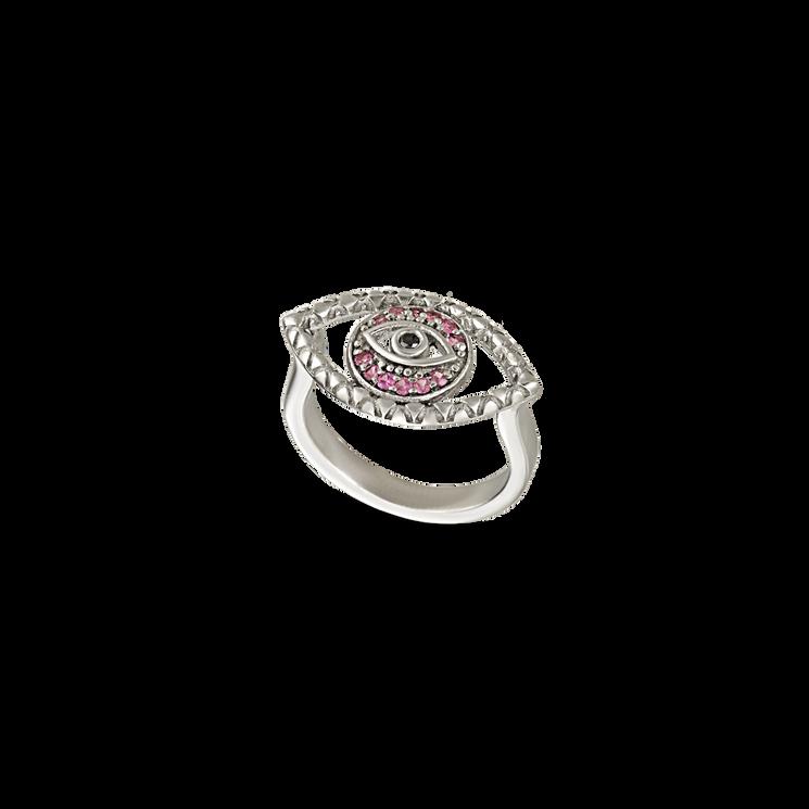 Tychon Evil Eye Signet Ring