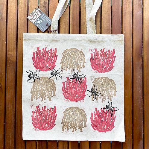 Book Bags: Coral Mushroom & Beetles
