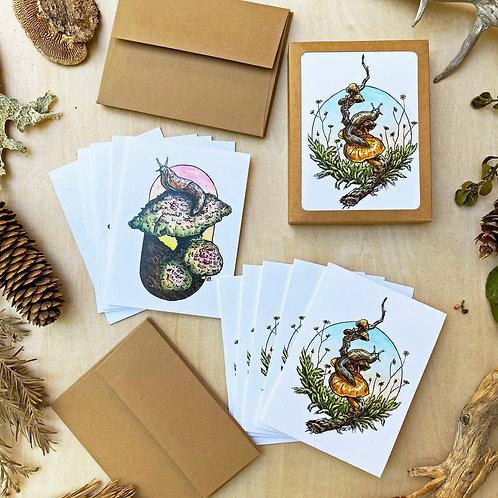 Slugs: Greeting Card Set