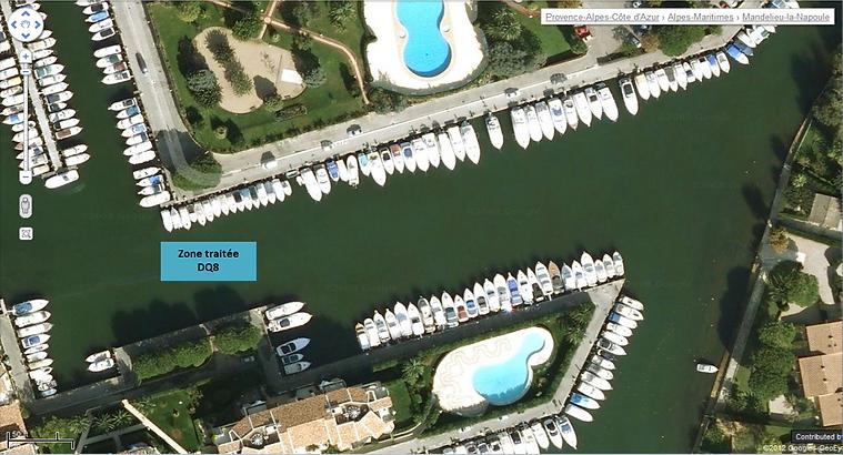 Géolocalisation_port_cannes_marina_avec_