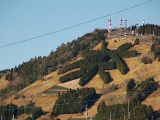 くっきりと茶文字と富士山が見られるのはこの時期ならではの贅沢ですね~