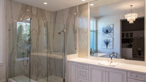 Porcelian slab Shower