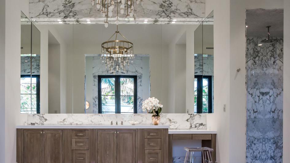 Marble slab bath
