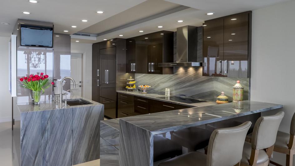 Blue Quartzite Kitchen