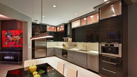Backlight Marble Kitchen