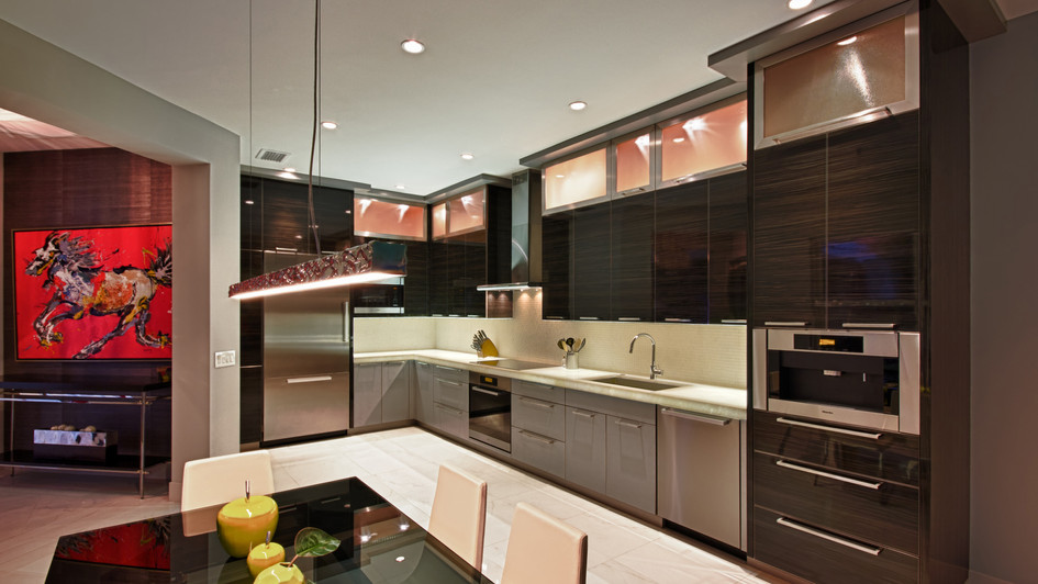Backlight Marble Kitchen