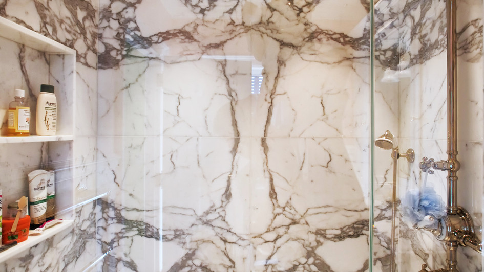 Calacatta Oro Slab Shower