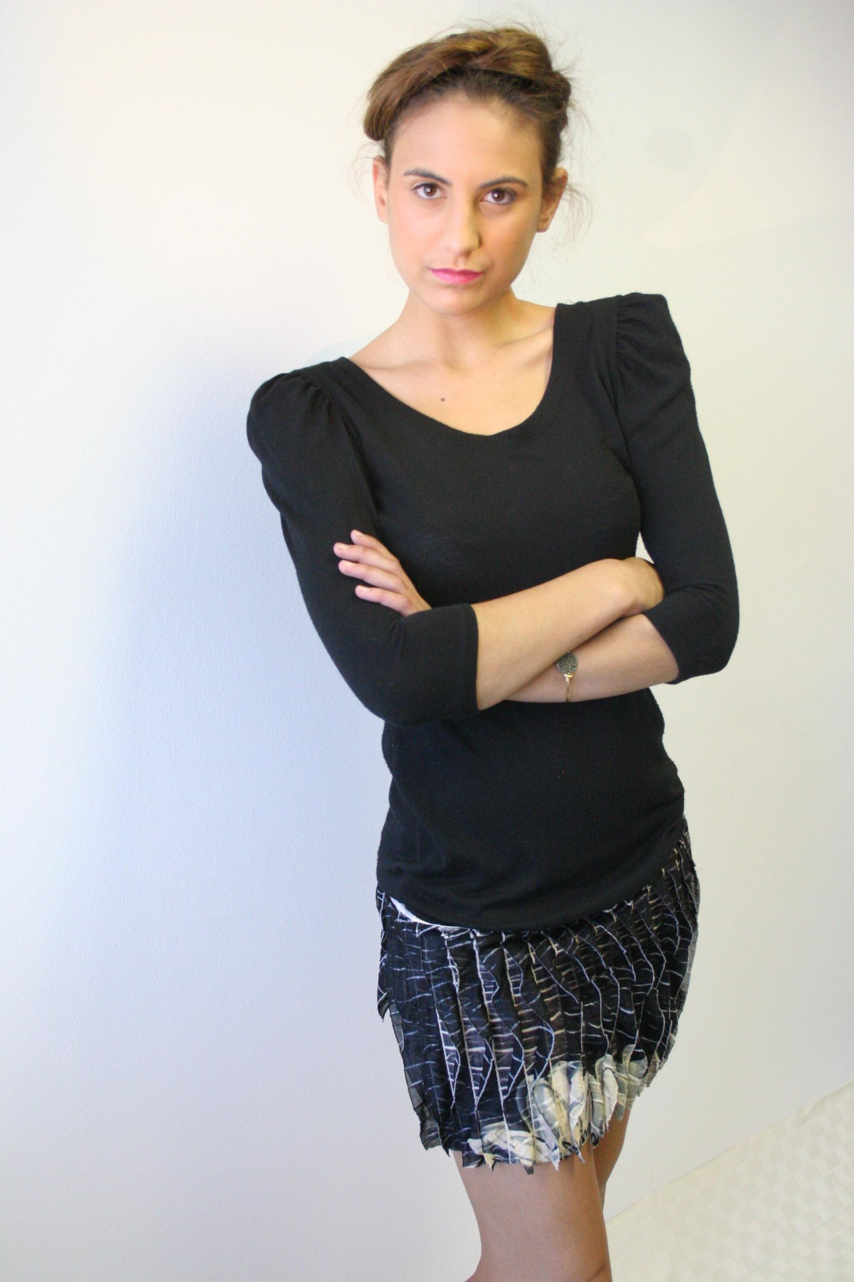 Stretch Knit Fringe Dress